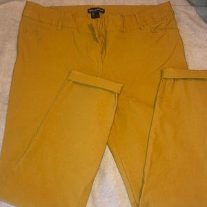 Mustard color pants